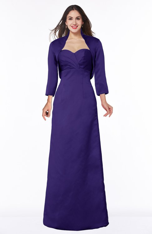 ColsBM Erica Royal Purple Traditional Criss-cross Straps Satin Floor Length Pick up Mother of the Bride Dresses