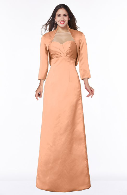 ColsBM Erica Salmon Traditional Criss-cross Straps Satin Floor Length Pick up Mother of the Bride Dresses
