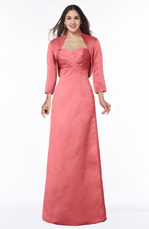 ColsBM Erica Shell Pink Traditional Criss-cross Straps Satin Floor Length Pick up Mother of the Bride Dresses