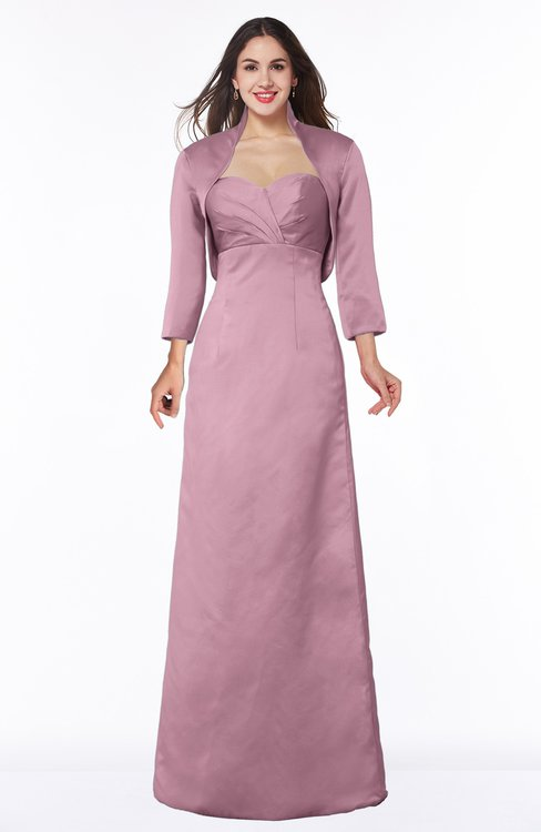 ColsBM Erica Silver Pink Traditional Criss-cross Straps Satin Floor Length Pick up Mother of the Bride Dresses