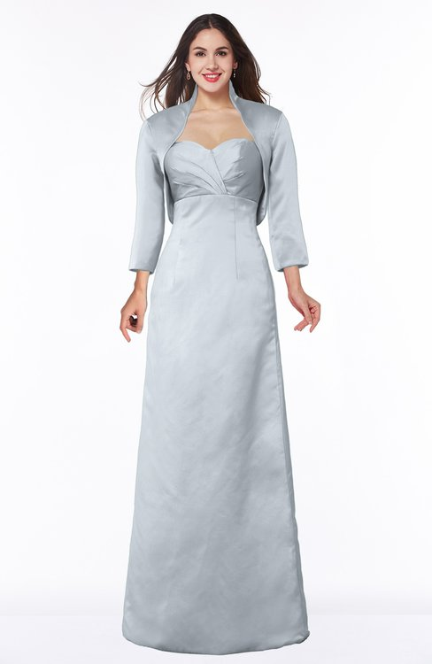 ColsBM Erica Silver Traditional Criss-cross Straps Satin Floor Length Pick up Mother of the Bride Dresses