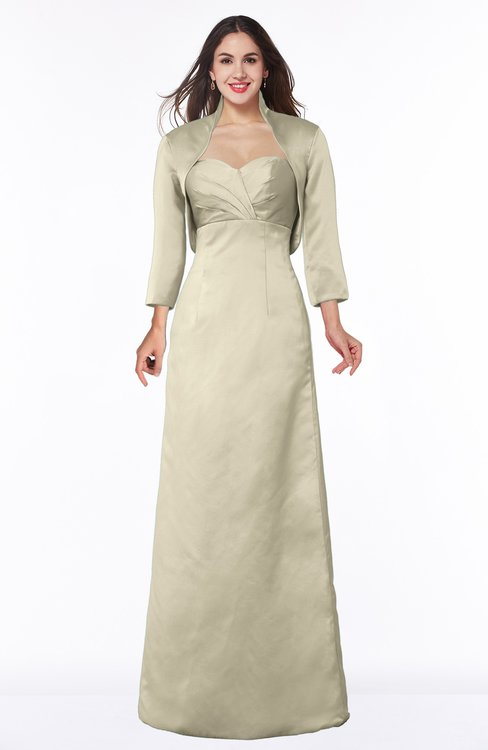 ColsBM Erica Tan Traditional Criss-cross Straps Satin Floor Length Pick up Mother of the Bride Dresses