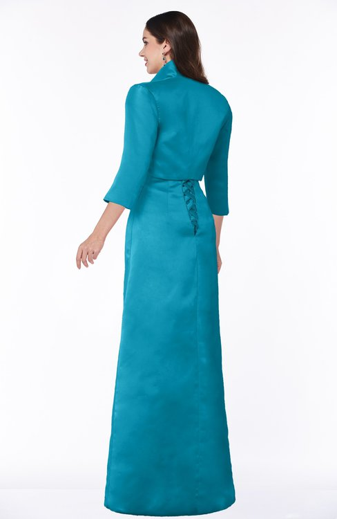 817e322657 ... ColsBM Erica Teal Traditional Criss-cross Straps Satin Floor Length  Pick up Mother of the