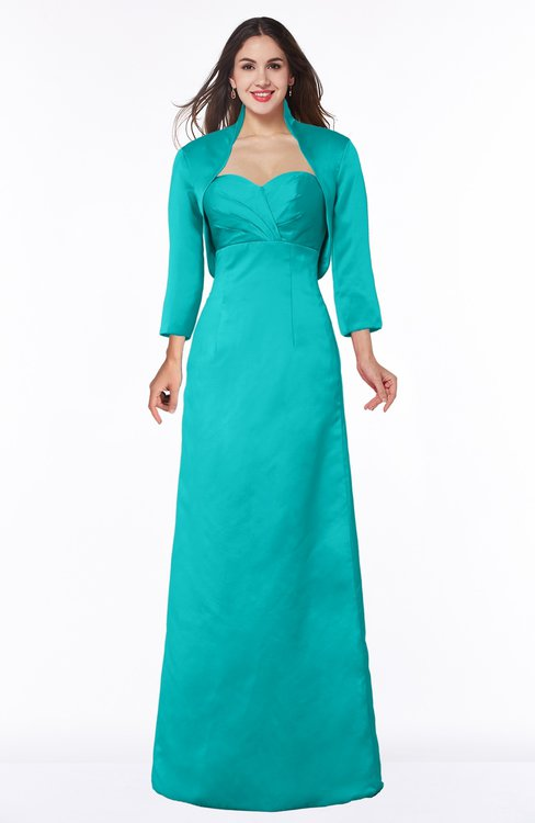 ColsBM Erica Viridian Green Traditional Criss-cross Straps Satin Floor Length Pick up Mother of the Bride Dresses