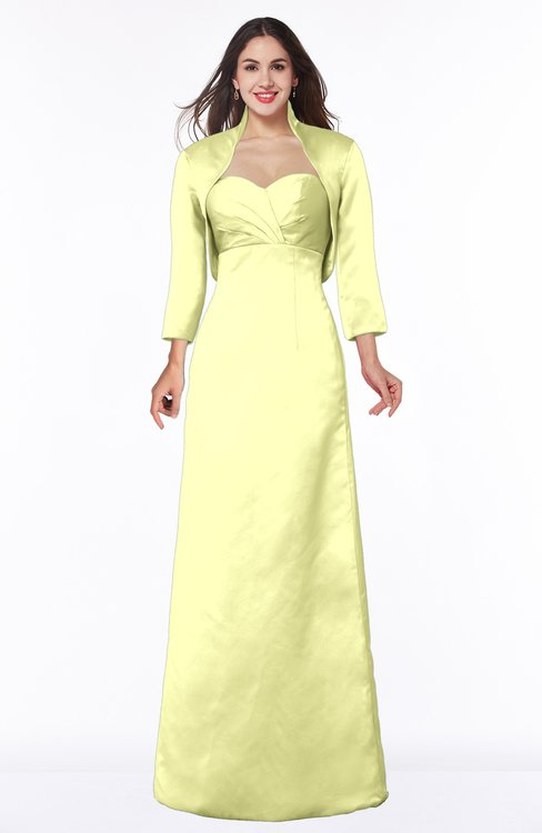 ColsBM Erica Wax Yellow Traditional Criss-cross Straps Satin Floor Length Pick up Mother of the Bride Dresses
