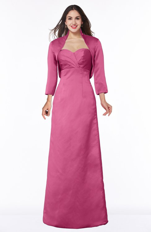 ColsBM Erica Wild Orchid Traditional Criss-cross Straps Satin Floor Length Pick up Mother of the Bride Dresses