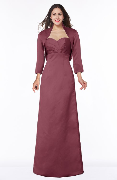 ColsBM Erica Wine Traditional Criss-cross Straps Satin Floor Length Pick up Mother of the Bride Dresses