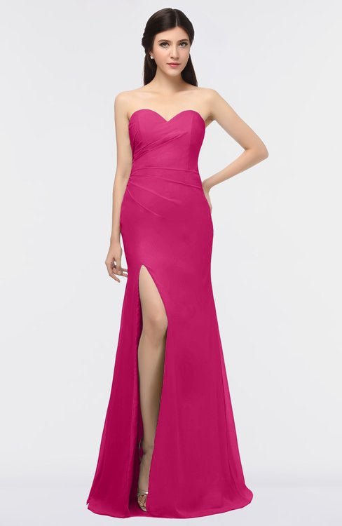 ColsBM Claudia Beetroot Purple Mature Sheath Strapless Sleeveless Floor Length Ruching Bridesmaid Dresses
