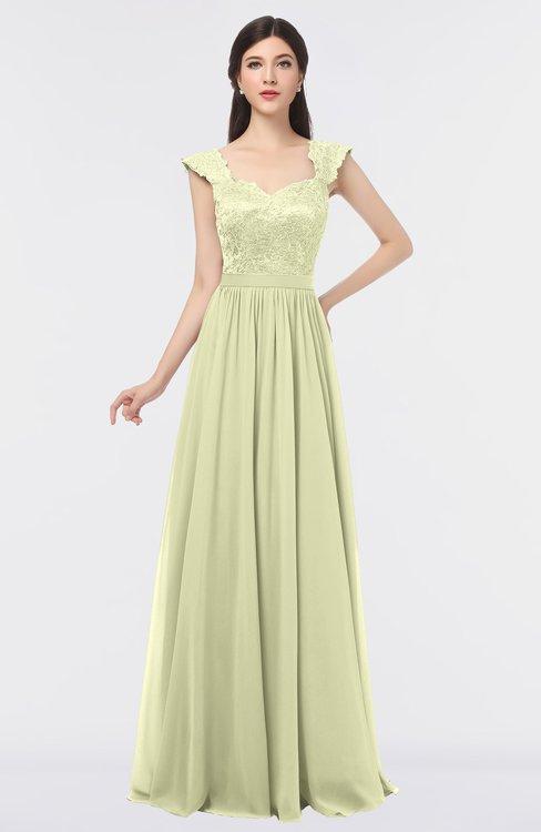 ColsBM Heidi Anise Flower Elegant A-line Square Sleeveless Lace Bridesmaid Dresses