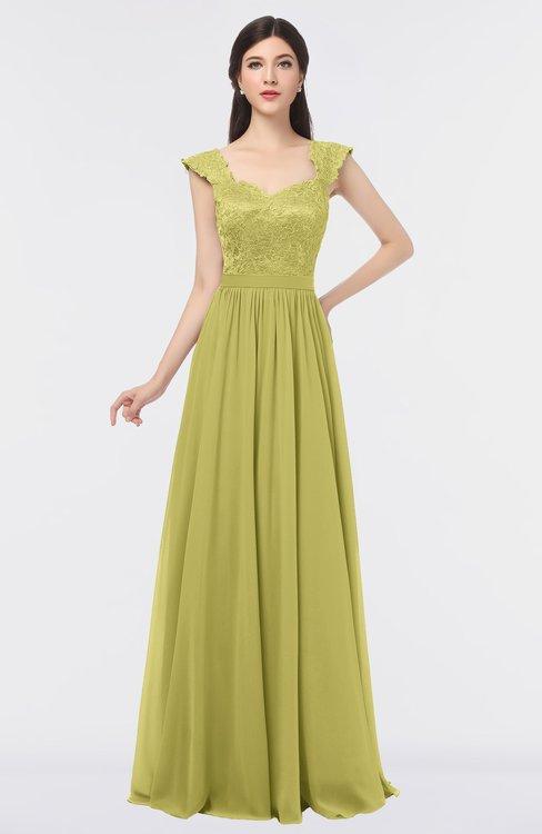 ColsBM Heidi Daffodil Elegant A-line Square Sleeveless Lace Bridesmaid Dresses