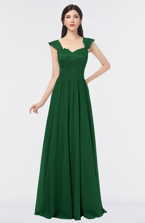 ColsBM Heidi Eden Elegant A-line Square Sleeveless Lace Bridesmaid Dresses