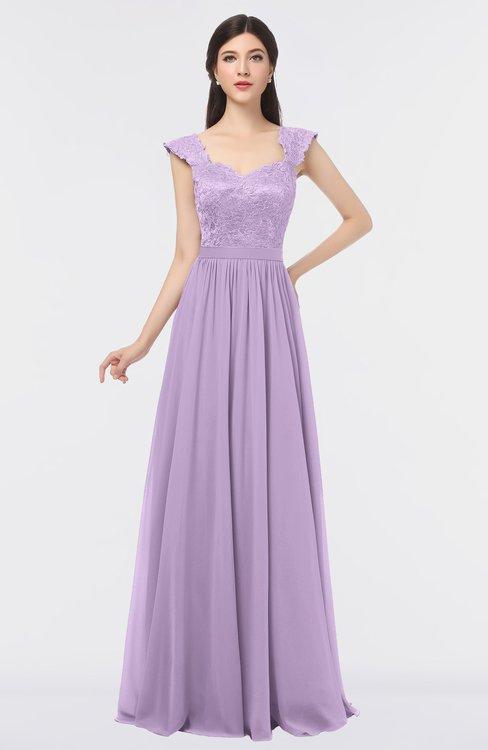 ColsBM Heidi Lavendula Elegant A-line Square Sleeveless Lace Bridesmaid Dresses