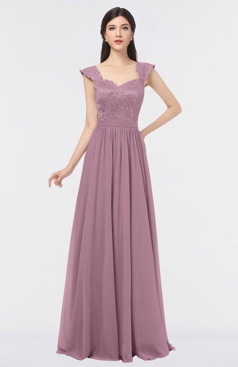 ColsBM Heidi Lilas Elegant A-line Square Sleeveless Lace Bridesmaid Dresses