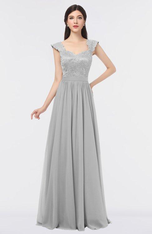 ColsBM Heidi Nimbus Cloud Elegant A-line Square Sleeveless Lace Bridesmaid Dresses