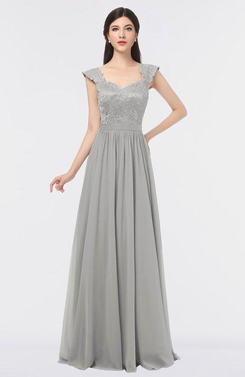 ColsBM Heidi Platinum Elegant A-line Square Sleeveless Lace Bridesmaid Dresses
