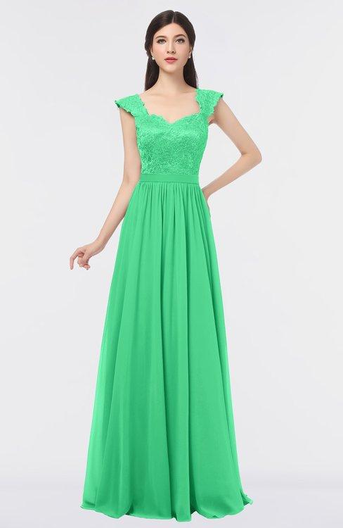 ColsBM Heidi Spring Bud Elegant A-line Square Sleeveless Lace Bridesmaid Dresses