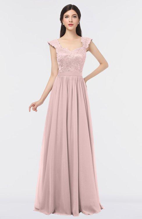 ColsBM Heidi Veiled Rose Elegant A-line Square Sleeveless Lace Bridesmaid Dresses