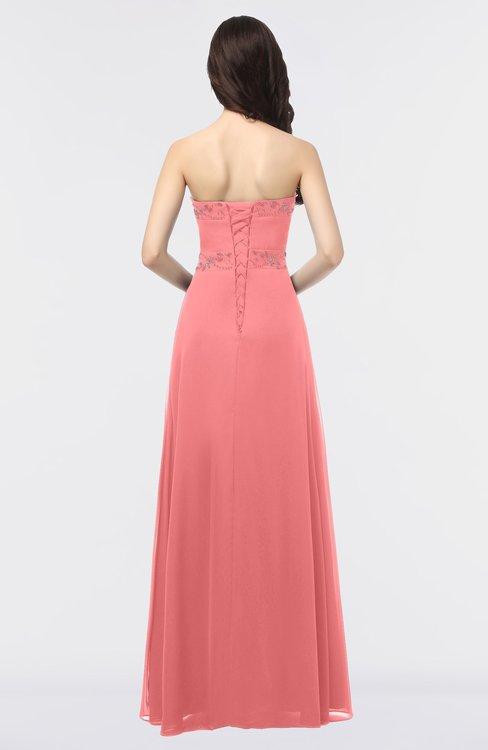 eecce1825994 ... ColsBM Elena Coral Elegant A-line Strapless Criss-cross Straps Floor  Length Appliques Bridesmaid