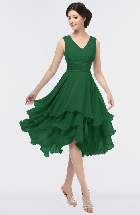 ColsBM Grace Eden Elegant V-neck Sleeveless Zip up Ruching Bridesmaid Dresses