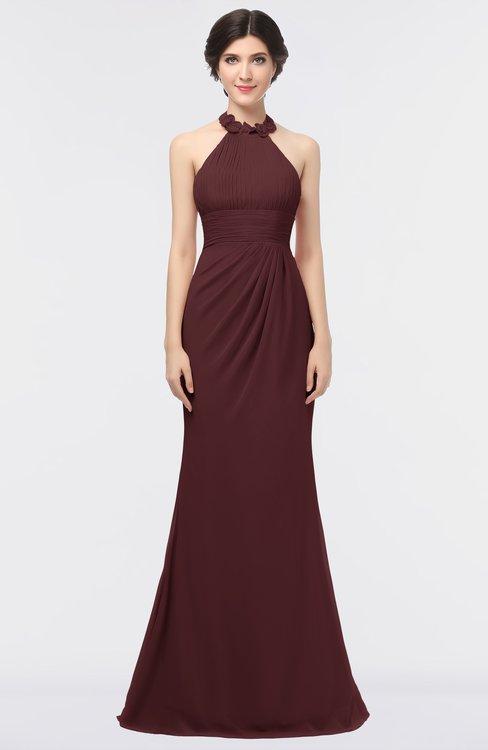 ColsBM Miranda Burgundy Antique Halter Sleeveless Zip up Floor Length Bridesmaid Dresses