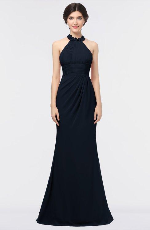 ColsBM Miranda Navy Blue Antique Halter Sleeveless Zip up Floor Length Bridesmaid Dresses