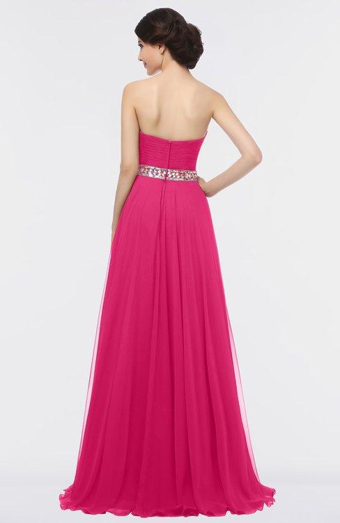0863b36aac4 ... ColsBM Zahra Fuschia Elegant A-line Strapless Sleeveless Half Backless Bridesmaid  Dresses