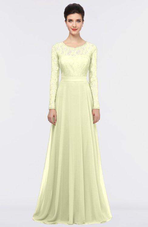 ColsBM Shelly Anise Flower Romantic A-line Long Sleeve Floor Length Lace Bridesmaid Dresses