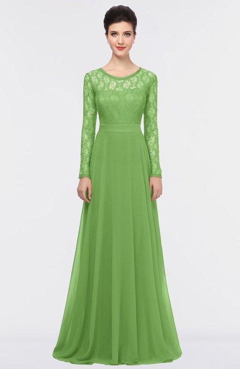 ColsBM Shelly Clover Romantic A-line Long Sleeve Floor Length Lace Bridesmaid Dresses
