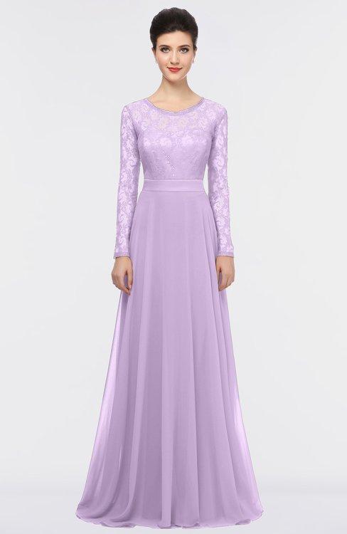ColsBM Shelly Lavendula Romantic A-line Long Sleeve Floor Length Lace Bridesmaid Dresses