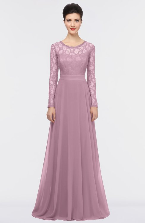 ColsBM Shelly Lilas Romantic A-line Long Sleeve Floor Length Lace Bridesmaid Dresses
