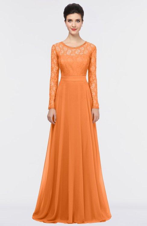 ColsBM Shelly Mango Romantic A-line Long Sleeve Floor Length Lace Bridesmaid Dresses