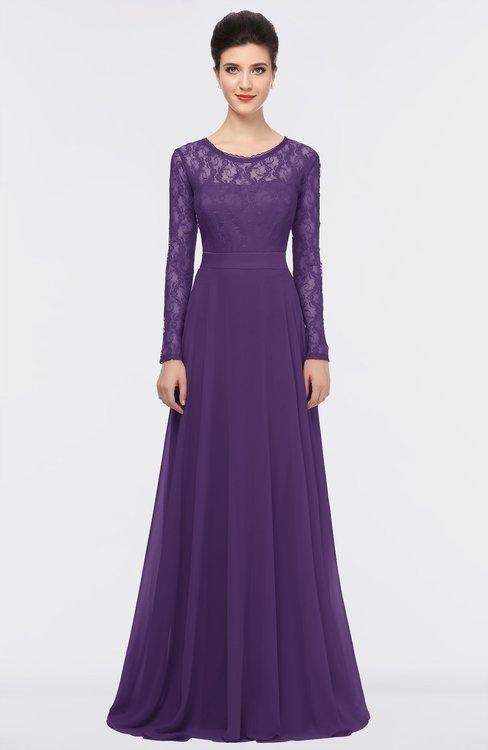 ColsBM Shelly Petunia Romantic A-line Long Sleeve Floor Length Lace Bridesmaid Dresses