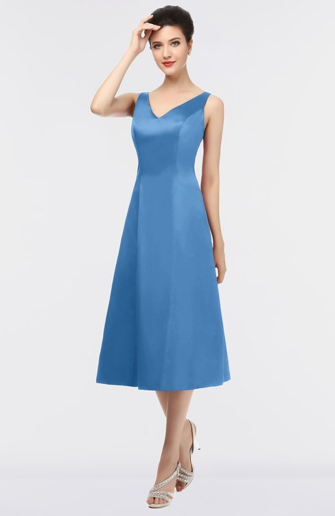 ColsBM Joanna Campanula Mature A-line V-neck Zip up Plainness Bridesmaid Dresses