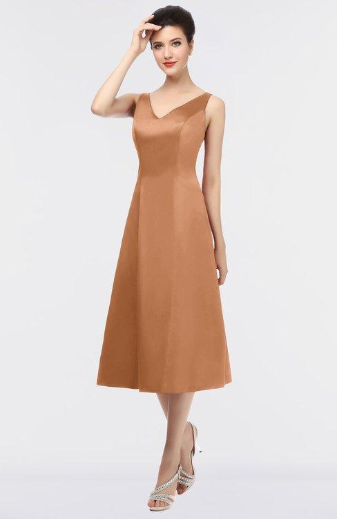 ColsBM Joanna Pheasant Mature A-line V-neck Zip up Plainness Bridesmaid Dresses