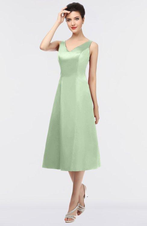 ColsBM Joanna Seacrest Mature A-line V-neck Zip up Plainness Bridesmaid Dresses