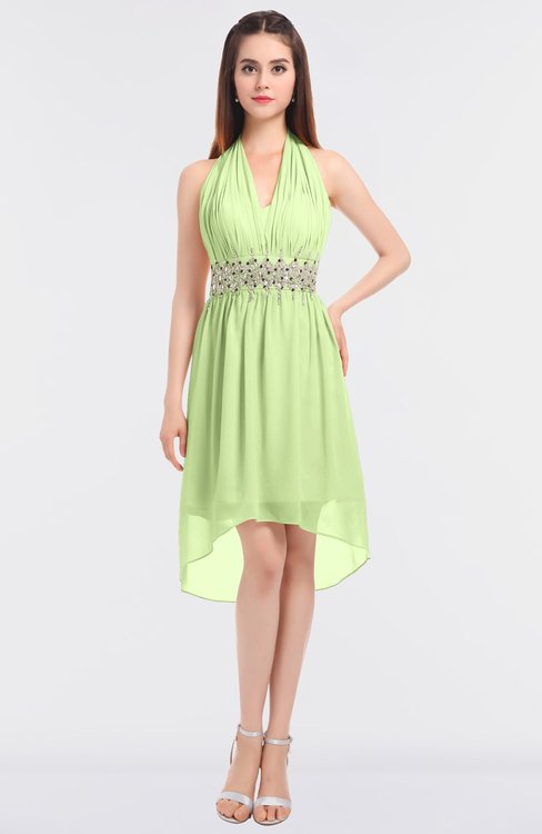 ColsBM Zuri Butterfly Glamorous A-line Halter Sleeveless Zip up Appliques Bridesmaid Dresses