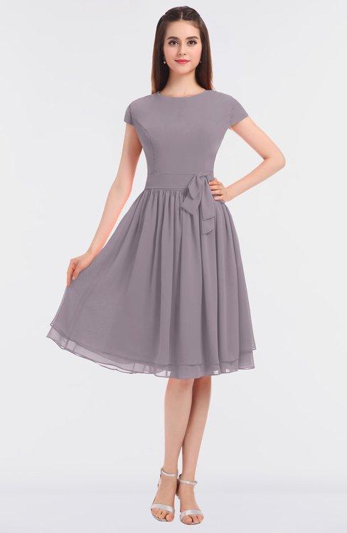 ColsBM Bella Cameo Modest A-line Short Sleeve Zip up Flower Bridesmaid Dresses