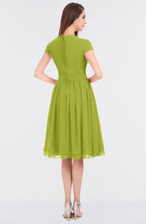 ce777ab472278 ... ColsBM Bella Green Oasis Modest A-line Short Sleeve Zip up Flower  Bridesmaid Dresses