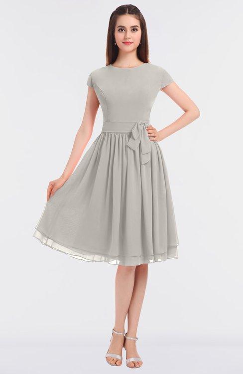 ColsBM Bella Hushed Violet Modest A-line Short Sleeve Zip up Flower Bridesmaid Dresses