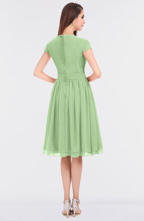 f92d59f18eb6 ... ColsBM Bella Sage Green Modest A-line Short Sleeve Zip up Flower  Bridesmaid Dresses