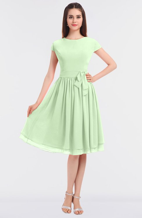 ColsBM Bella Seacrest Modest A-line Short Sleeve Zip up Flower Bridesmaid Dresses