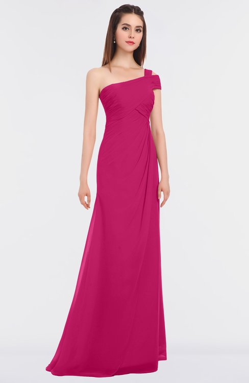 ColsBM Meredith Beetroot Purple Elegant A-line Asymmetric Neckline Zip up Floor Length Bridesmaid Dresses