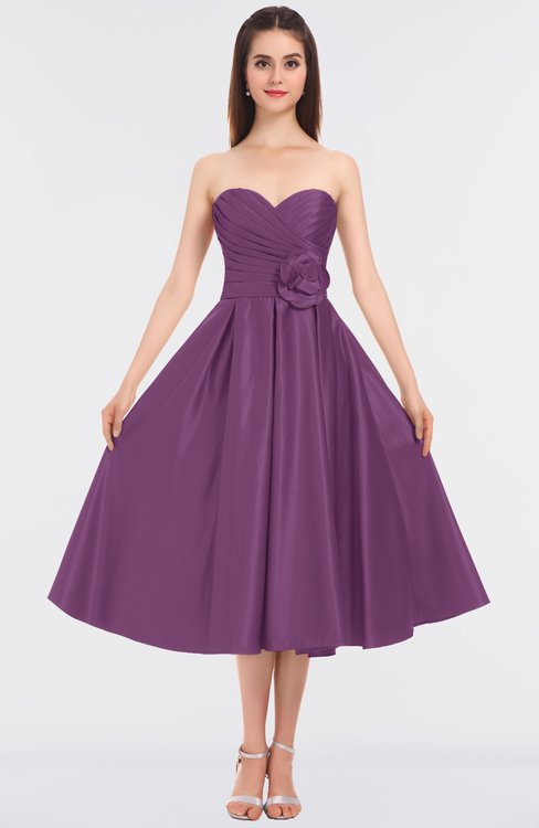 ColsBM Kallie Argyle Purple Gorgeous A-line Strapless Sleeveless Flower Bridesmaid Dresses
