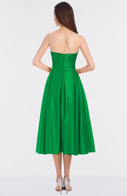 kelly green gorgeous aline strapless sleeveless flower