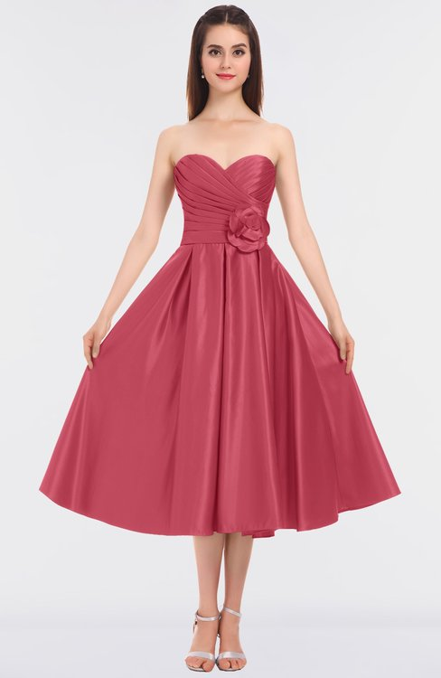 ColsBM Kallie Magenta Gorgeous A-line Strapless Sleeveless Flower Bridesmaid Dresses