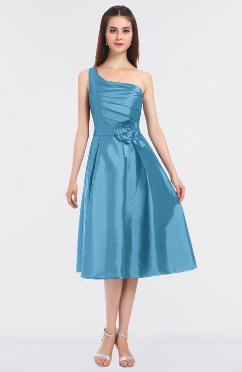 ColsBM Ellison Alaskan Blue Mature A-line Asymmetric Neckline Sleeveless Zip up Bridesmaid Dresses
