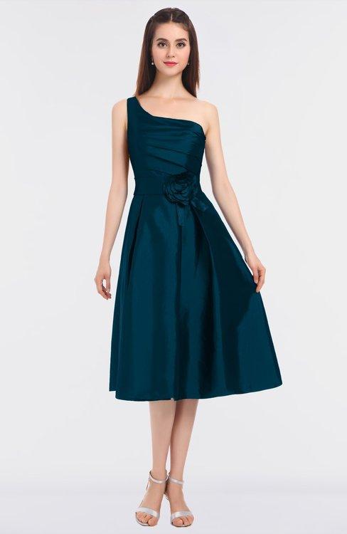 ColsBM Ellison Moroccan Blue Mature A-line Asymmetric Neckline Sleeveless Zip up Bridesmaid Dresses