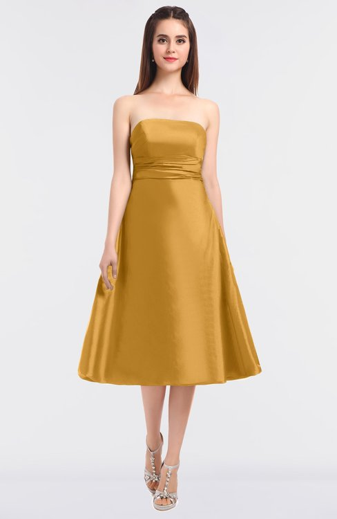 ColsBM Stacy Apricot Elegant Ball Gown Bateau Sleeveless Zip up Ruching Bridesmaid Dresses