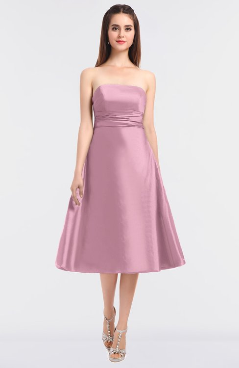 ColsBM Stacy Baby Pink Elegant Ball Gown Bateau Sleeveless Zip up Ruching Bridesmaid Dresses