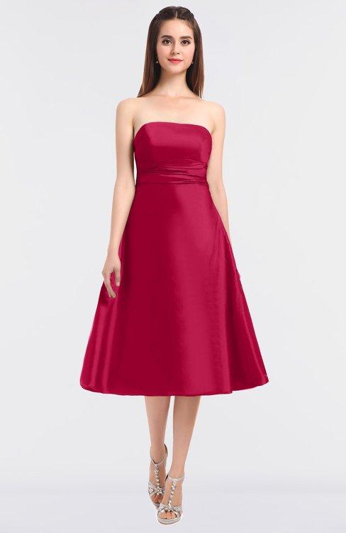 ColsBM Stacy Carmine Elegant Ball Gown Bateau Sleeveless Zip up Ruching Bridesmaid Dresses